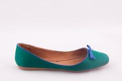 Zapato plano verde Fotografía de archivo