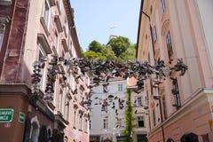 Zapato que lanza en Llubiana, Eslovenia imagen de archivo libre de regalías