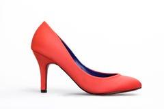 Zapato rojo Foto de archivo libre de regalías