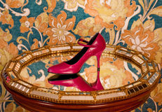 Zapato rojo Imagen de archivo libre de regalías