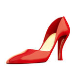 Zapato rojo en blanco Fotografía de archivo libre de regalías