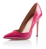 Zapato rosado del tacón alto de la mujer Imágenes de archivo libres de regalías