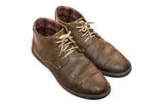 Zapato viejo de Brown Fotografía de archivo