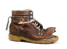 Zapato viejo y quebrado. Foto de archivo libre de regalías