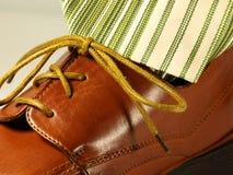Zapato y lazo Fotos de archivo