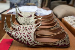 Zapatos árabes Imágenes de archivo libres de regalías