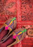 Zapatos étnicos de Rajasthán imagen de archivo