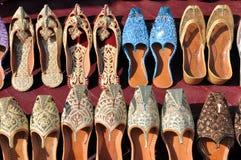 Zapatos Afghani coloridos Fotos de archivo libres de regalías