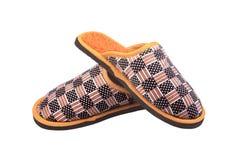 Zapatos anaranjados de la casa fotografía de archivo