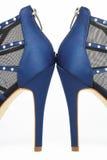Zapatos atractivos azul marino del partido Fotos de archivo libres de regalías