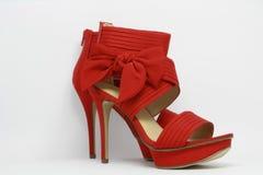 Zapatos atractivos rojos del partido Imagenes de archivo