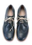 Zapatos azules de los hombres Foto de archivo libre de regalías