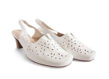 Zapatos blancos Imagen de archivo
