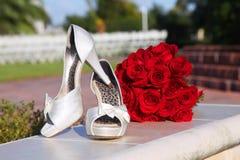 Zapatos blancos Foto de archivo libre de regalías