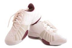 Zapatos blancos del deporte imágenes de archivo libres de regalías