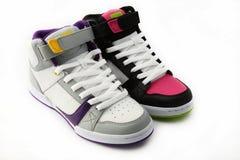 Zapatos blancos y rosados Fotografía de archivo libre de regalías