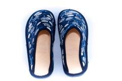 Zapatos caseros cómodos Foto de archivo libre de regalías