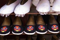 Zapatos chinos del paño Imagenes de archivo