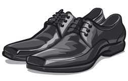Zapatos clásicos de los hombres Foto de archivo