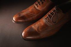 Zapatos clásicos del ` s de los hombres foto de archivo