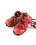 Zapatos coloreados Imágenes de archivo libres de regalías