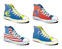 Zapatos con el indicador Foto de archivo libre de regalías