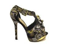 Zapatos con la impresión floral Imagen de archivo libre de regalías
