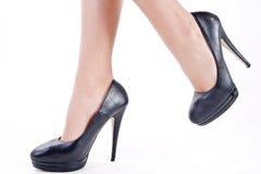 Zapatos con los talones Imagen de archivo libre de regalías