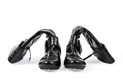 Zapatos con un cierre relámpago Imágenes de archivo libres de regalías