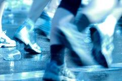Zapatos corrientes rápidos del maratón Imágenes de archivo libres de regalías