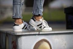 Zapatos de Adidas Superstar Imagen de archivo