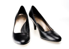 Zapatos de alineada de Blcak Foto de archivo