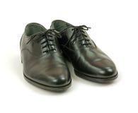 Zapatos de alineada negros de los hombres Foto de archivo