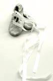 Zapatos de ballet, sepia dominante del hight Imágenes de archivo libres de regalías