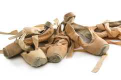 Zapatos de ballet usados Fotografía de archivo libre de regalías