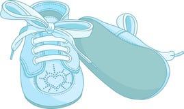 Zapatos de bebé azul Foto de archivo
