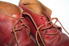 Zapatos de bebé de la vendimia Fotos de archivo