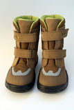 Zapatos de bebé del invierno Fotografía de archivo