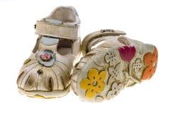 Zapatos de bebé dulces foto de archivo libre de regalías
