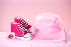 Zapatos de bebé lindos Imagen de archivo libre de regalías