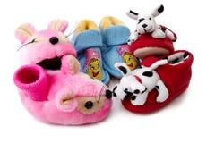 Zapatos de bebé recién nacidos adornados imágenes de archivo libres de regalías