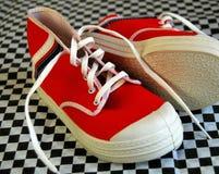 Zapatos de bebé rojos Fotografía de archivo