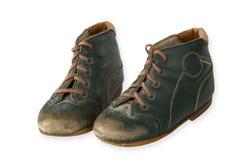 Zapatos de bebé viejos Fotografía de archivo libre de regalías