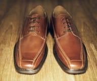 Zapatos de Brown Foto de archivo libre de regalías
