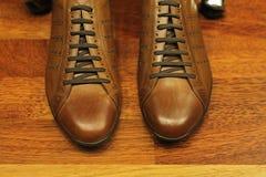 Zapatos de Brown Fotos de archivo libres de regalías