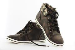 Zapatos de Brown Fotografía de archivo libre de regalías