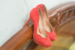 Zapatos de Coral Wedding Fotos de archivo
