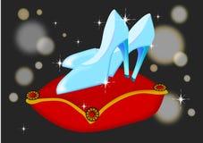 Zapatos de cristal stock de ilustración