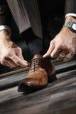 Zapatos de cuero fotos de archivo