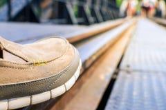 Zapatos de cuero Fotografía de archivo